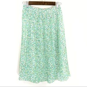 Downeast | Mint Pleated Skirt Size Large
